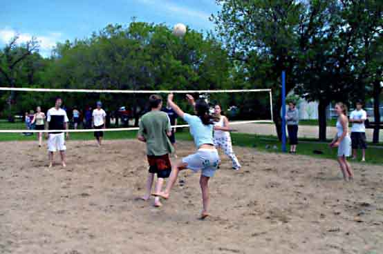 Beach volleyball without the beach!